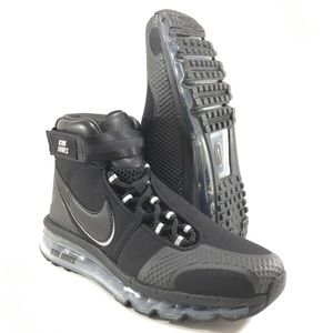 Nike Air Max 360 Hi Kim Jones Triple Black Shoes